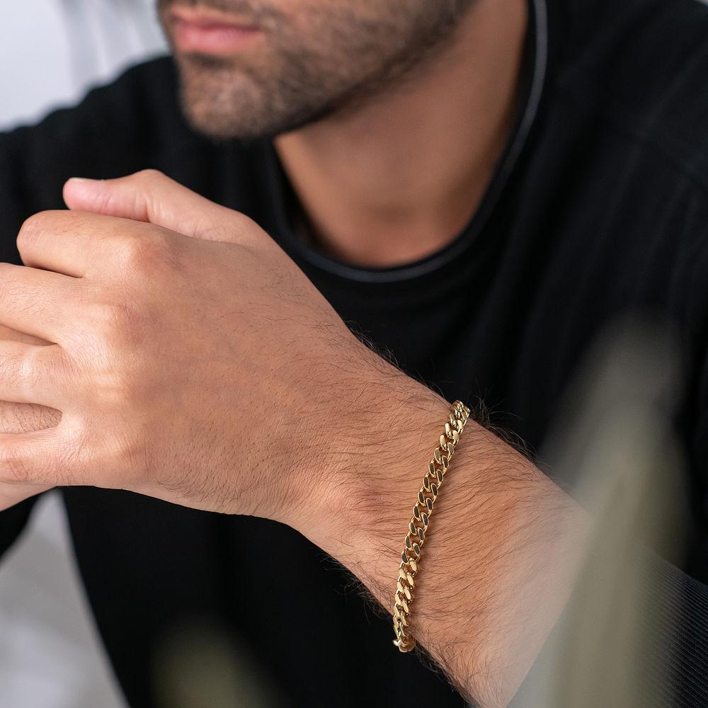 Men's Cuban Link Bracelet in Stainless Steel - 1