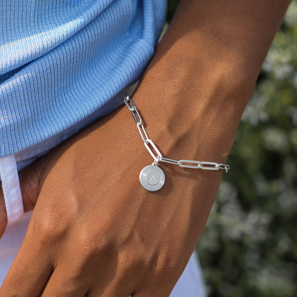 Odeion Initial Link Chain Bracelet / Anklet in Sterling Silver - 3