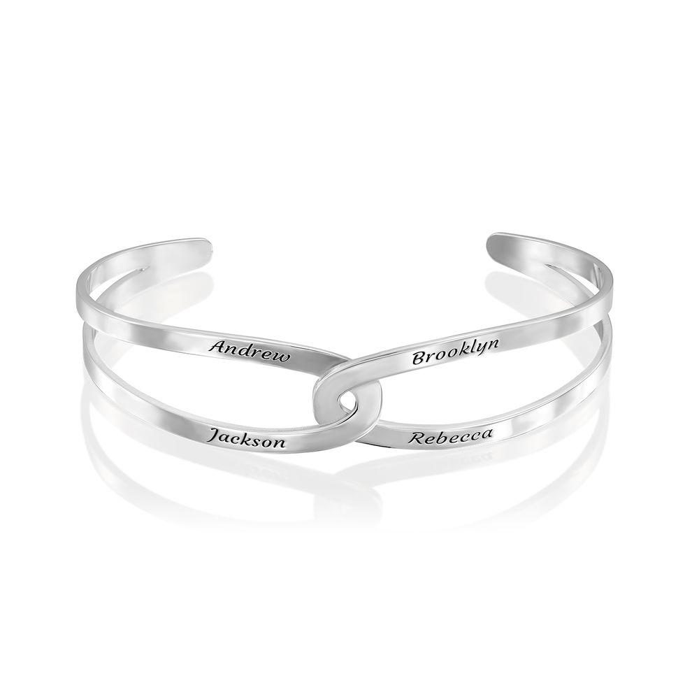 Hand in Hand- Custom Bracelet Cuff in Sterling Silver