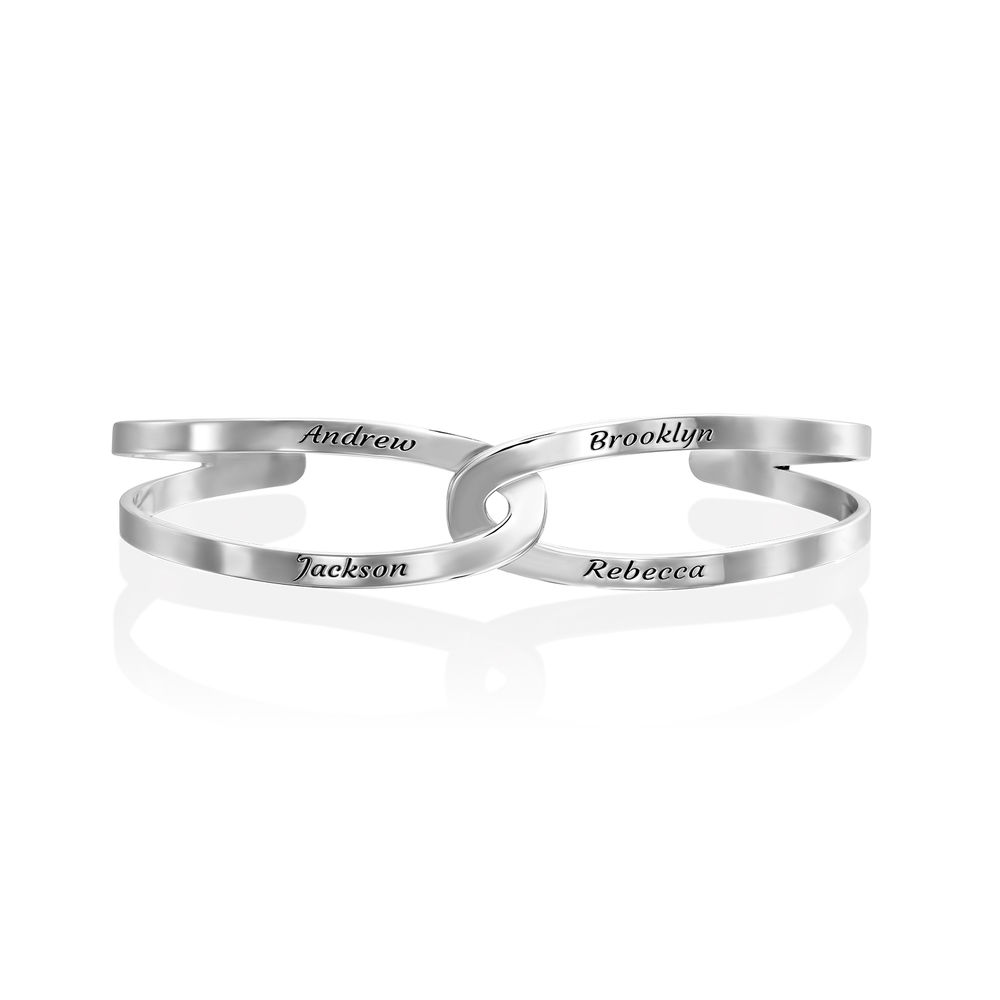Hand in Hand- Custom Bracelet Cuff in Sterling Silver - 2
