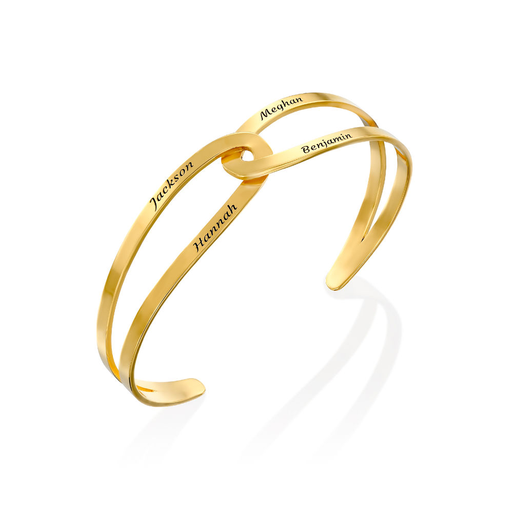 Hand in Hand - Custom Bracelet Cuff in Gold Plating - 1