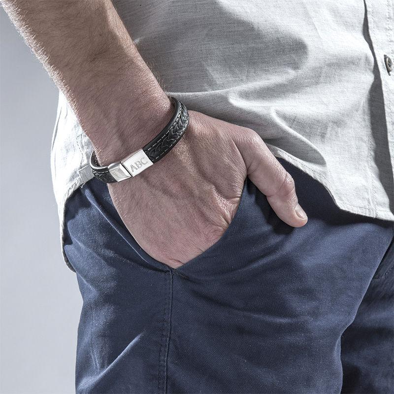 Men's Bracelet with Initials - 2