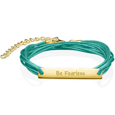 """Inspirational Gifts - """"Be Fearless"""" Bracelet GP"""