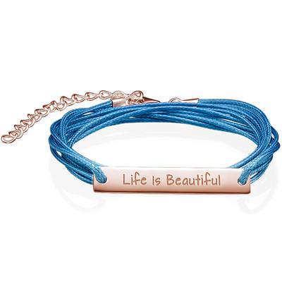 Life is Beautiful Inspirational Bracelet RGP
