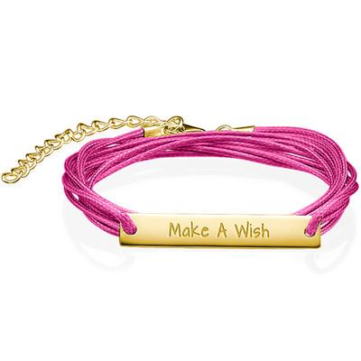 "Inspirational ""Make a Wish"" Bar Bracelet GP"