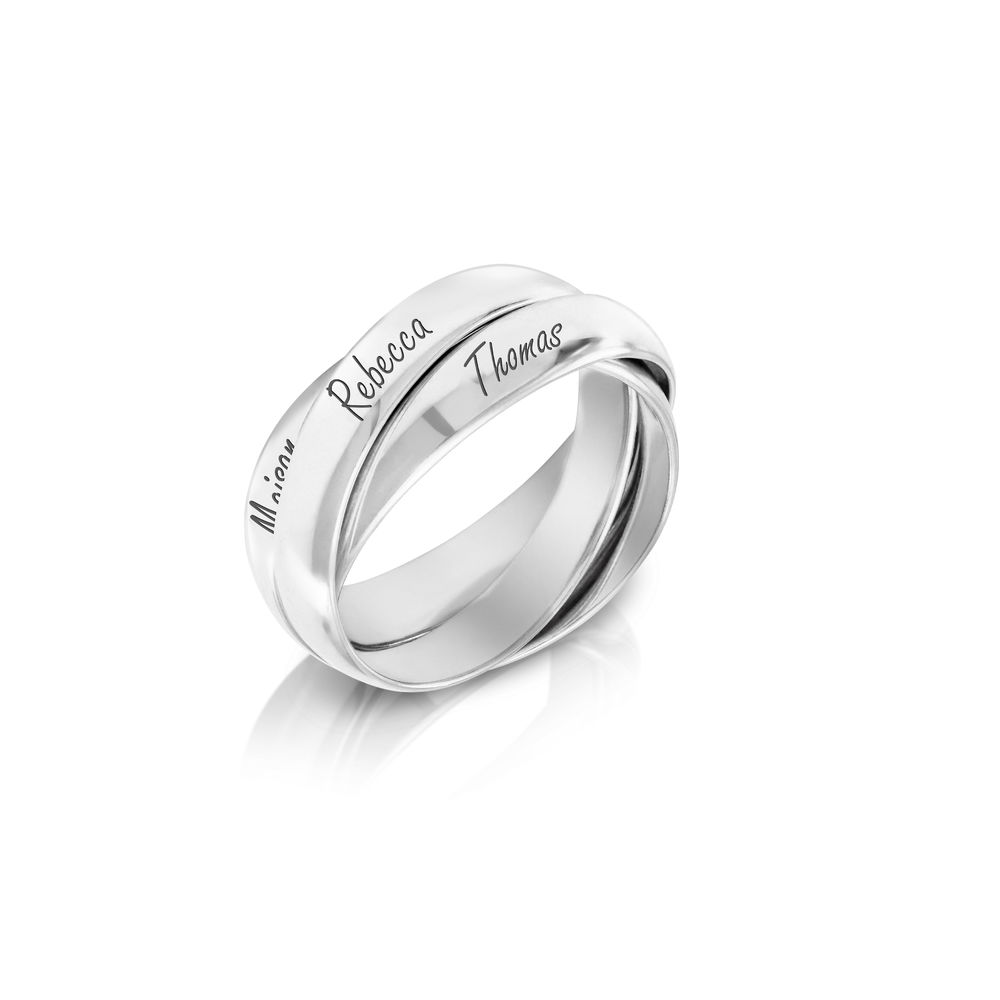 Charlize Russian Ring in Sterling Silver - 1