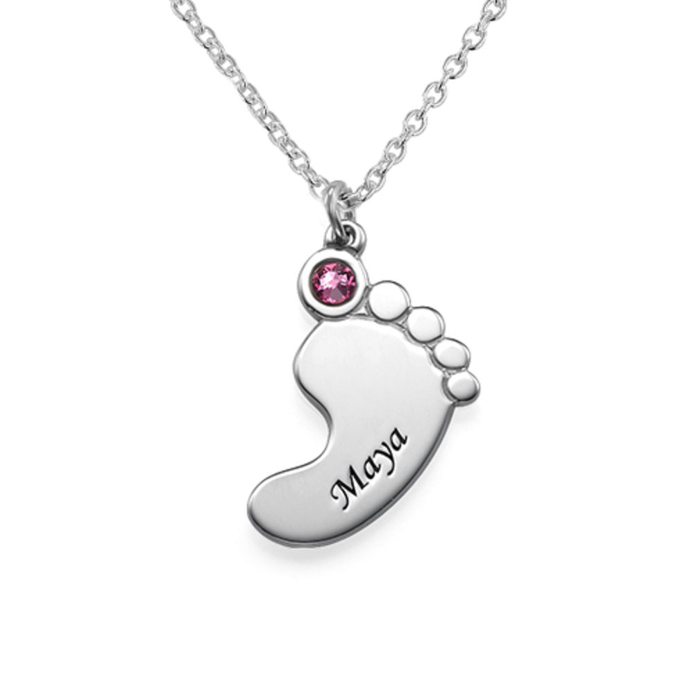 Mother and Daughter Baby Feet Necklace - 2