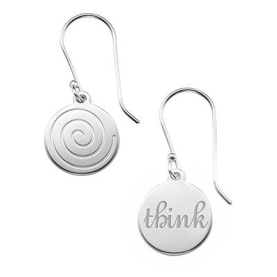 Asymmetric Earrings in Sterling Silver