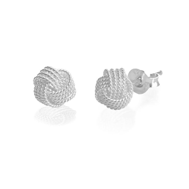 Knot Earrings in Sterling Silver