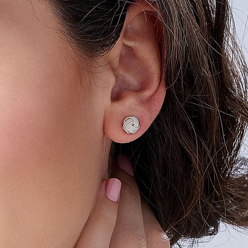 Knot Earrings in Sterling Silver - 2