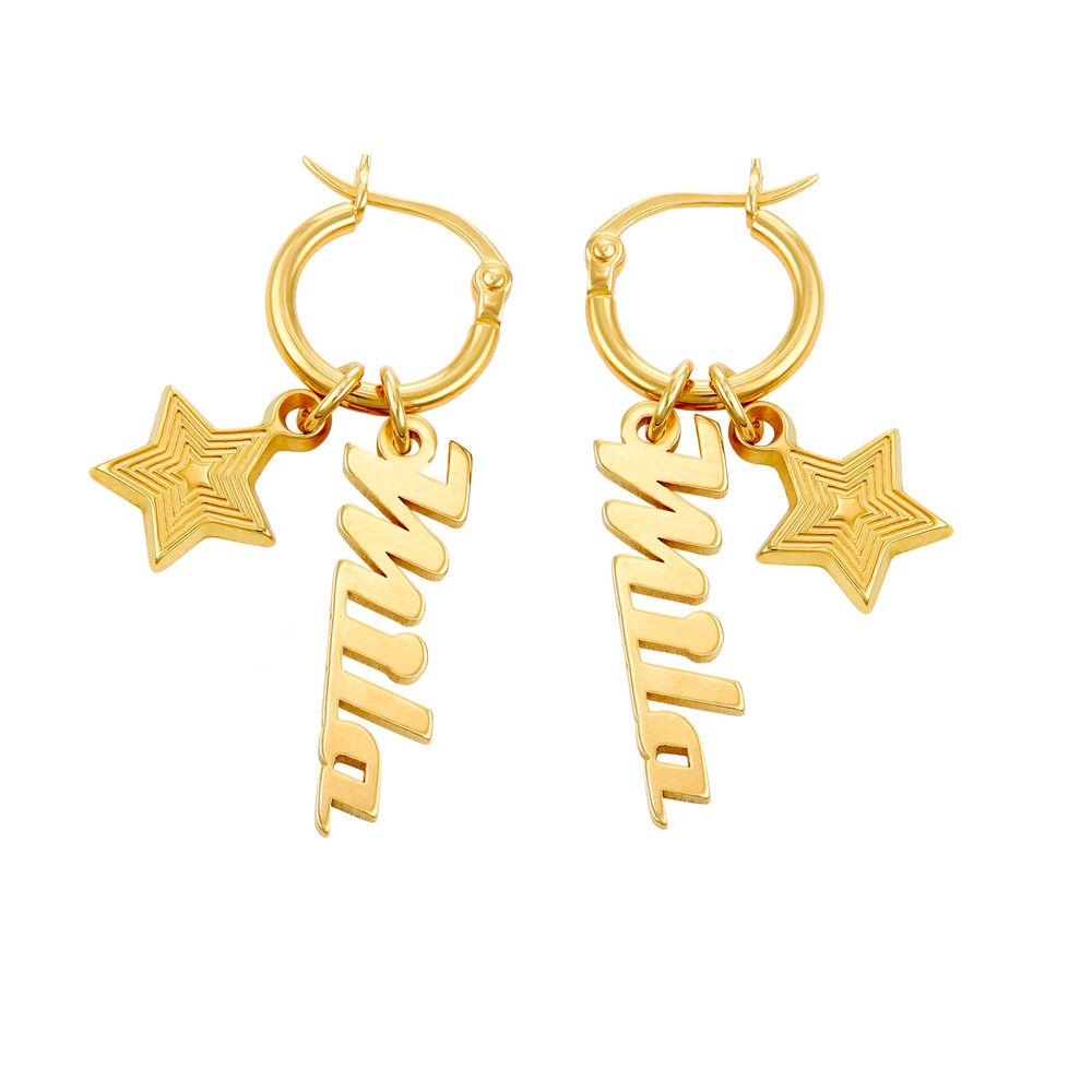 Siena Drop Name Earrings in 18ct Gold Plating