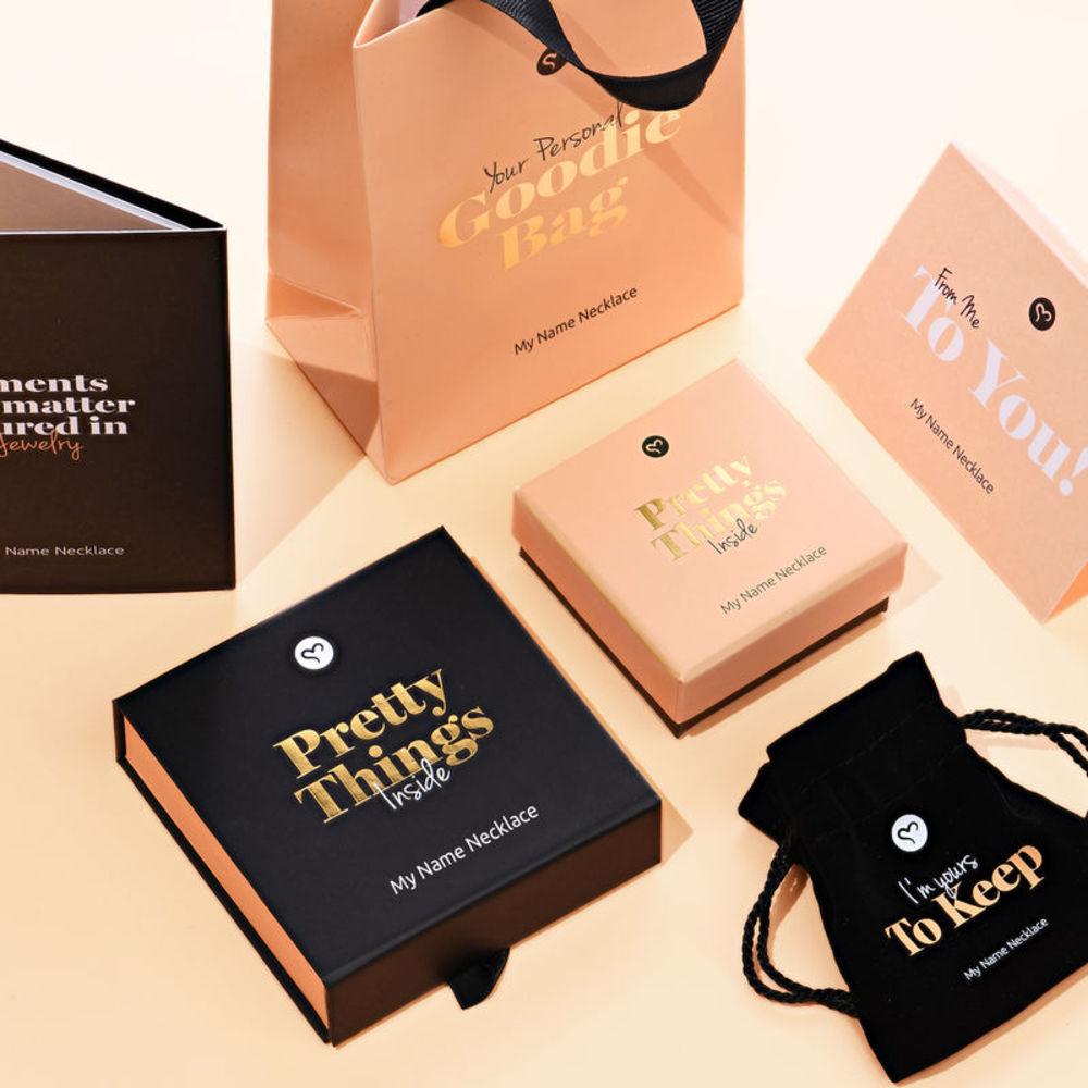 Siena Drop Name Earrings in 18k Rose Gold Plating - 3