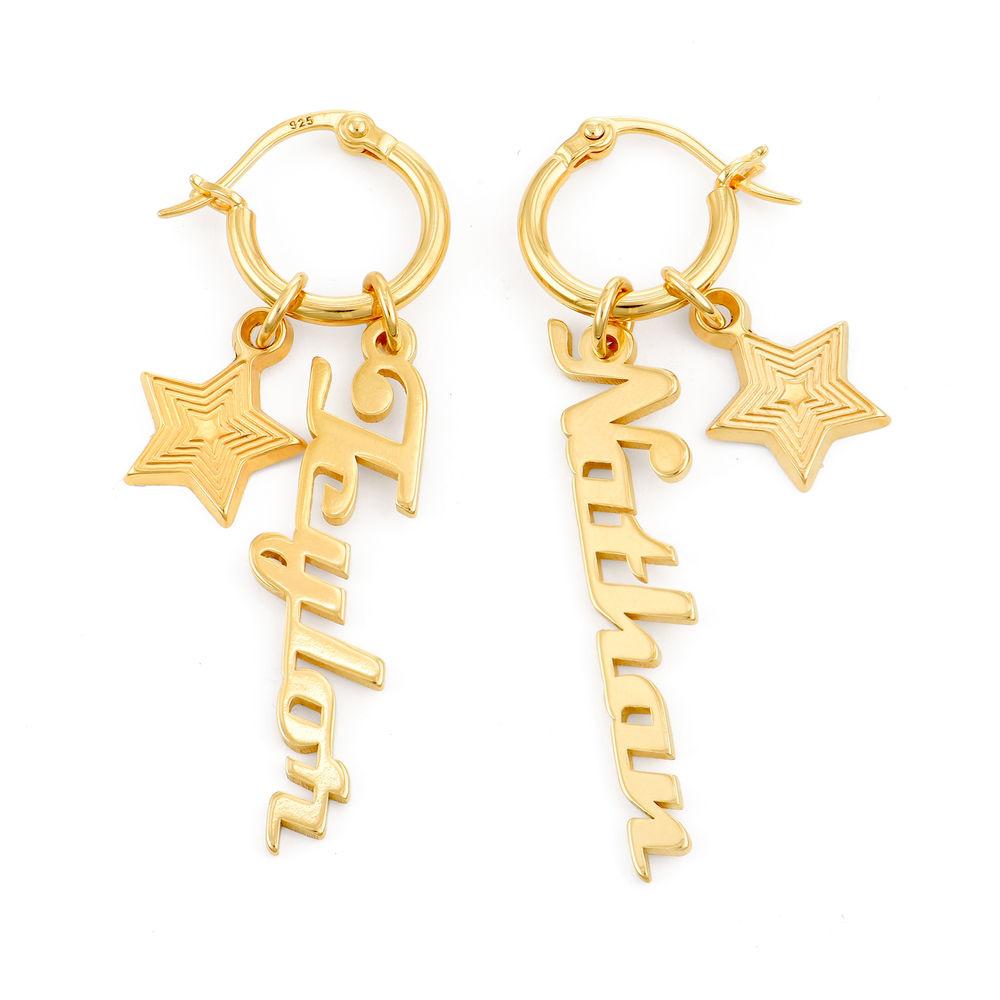 Siena Drop Name Earrings in Vermeil