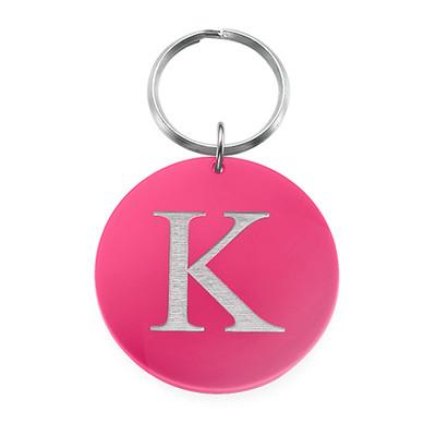 Acrylic Initial Keychain - 1