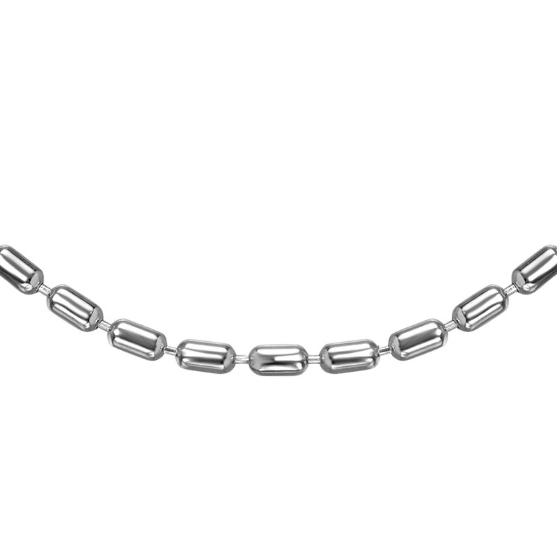 Cylinder Bead Chain - Silver - 1