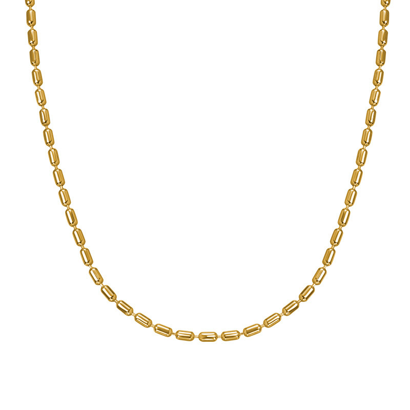 Cylinder Bead Chain - Gold Plated