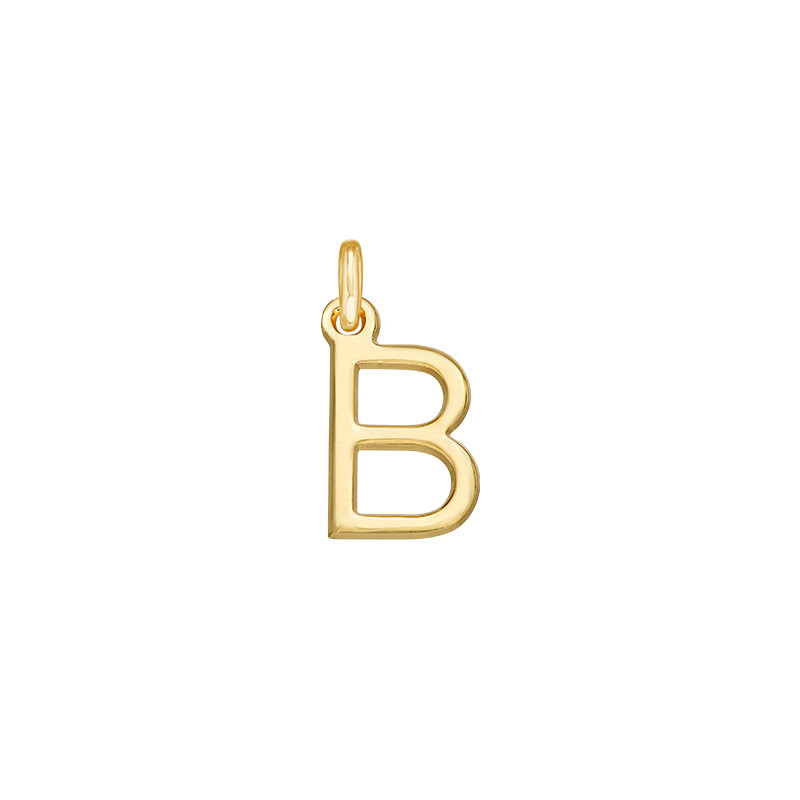 Delicate Initial Charm - Gold Plated