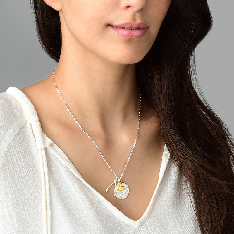 Delicate Initial Charm - Gold Plated - 2