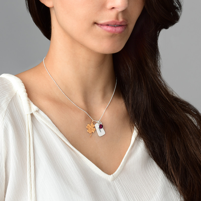Clover Charm - Rose Gold Plated - 1