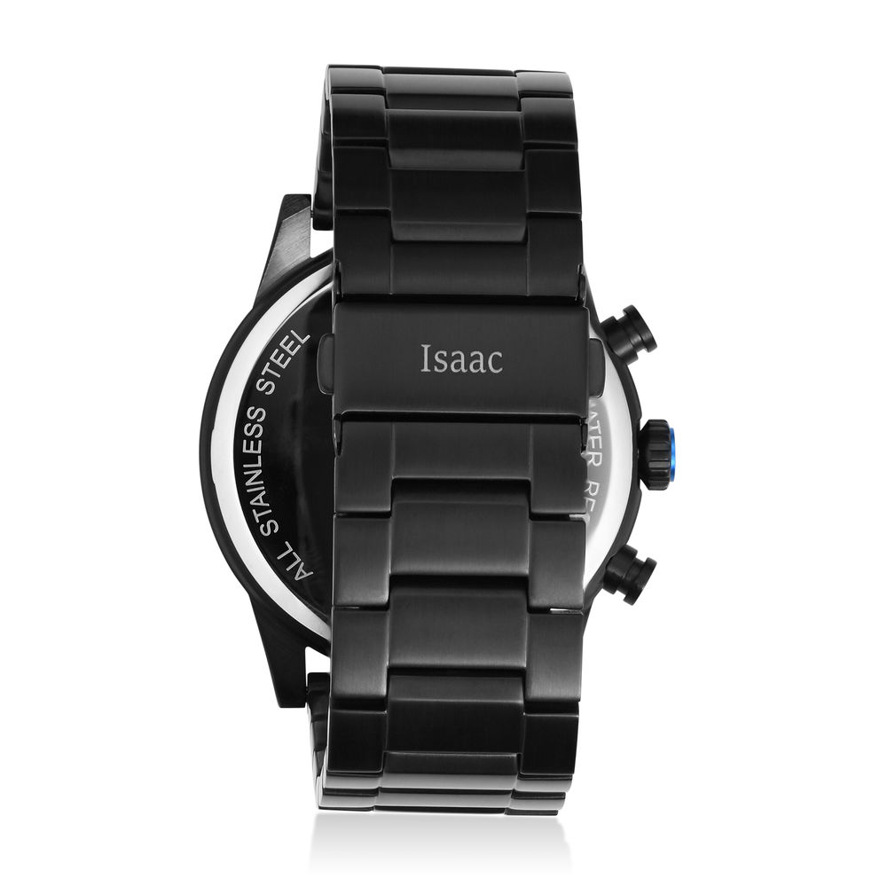 Quest Chronograph Black Stainless Steel Watch for Men - 2