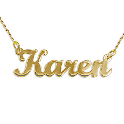 14ct Gold Script Style Name Necklace product photo