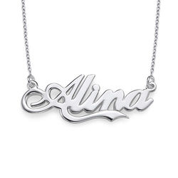 Personalised Silver ?Coca Cola? Font Name Necklace product photo