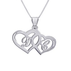 Silver Couples Hearts Pendant product photo