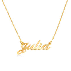 Small 18ct Gold Plated Silver Classic Name Necklace product photo