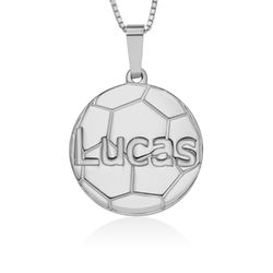 Sterling Silver Personlised Football Pendant product photo