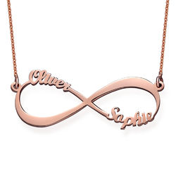 Infinity Name Necklace with Rose Gold Plating product photo