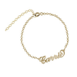 18ct Gold-Plated Silver Carrie Name Bracelet product photo