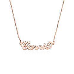 18ct Rose Gold Plated Silver Name Necklace product photo