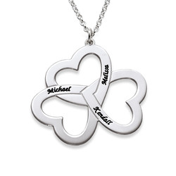 Personalised 3 Heart Necklace product photo