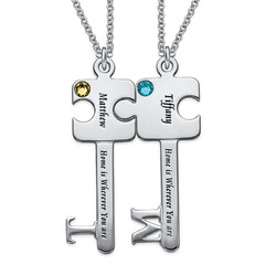 Personalised Puzzle Key Necklace Set product photo