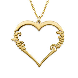 18ct Gold Vermeil Heart Necklace product photo