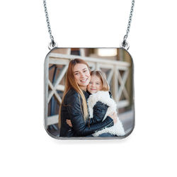 Personalised Photo Necklace - Square Shaped product photo