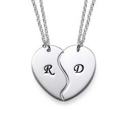 Personalised Initials on Breakable Heart Necklaces product photo