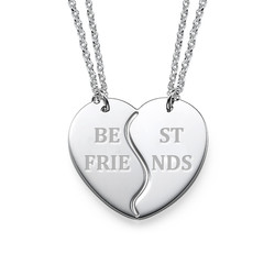 Personalised Silver BFF Necklaces product photo