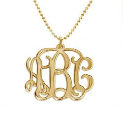 18ct Gold Plated Sterling Silver Initials Necklace product photo