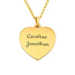 Heart Necklace in 18ct Gold Vermeil product photo