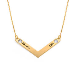 Swarovski Personalised Family Necklace in Gold Plating product photo