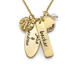 18ct Gold Plated Silver Family Tree Jewellery product photo