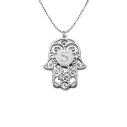 Personalised Initial Hamsa Necklace product photo