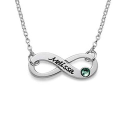 Swarovski Infinity Necklace with Engraving product photo