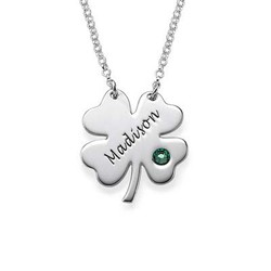 Personalised Four Leaf Clover Necklace product photo