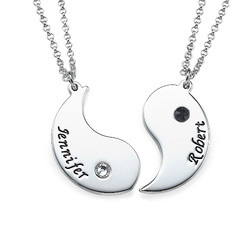 Yin Yang Necklace for Couples with Engraving product photo