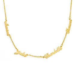 Multiple Name Necklace in 18ct Gold Vermeil product photo