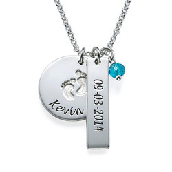 New Mum Jewellery - Baby Feet Charm Necklace product photo