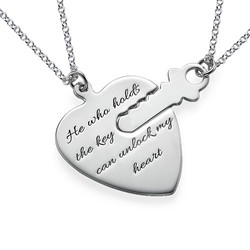 Engraved Key to My Heart Necklace product photo