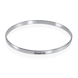 Engraved Infinite Love Bracelet in Silver product photo